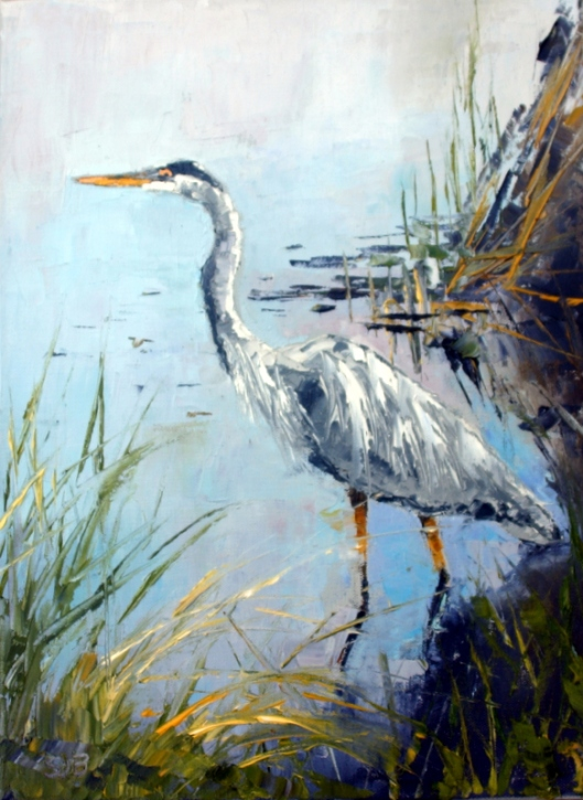 "On The Lookout 14: x 18"" Oil on Canvas Framed"